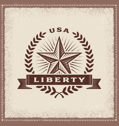 vintage usa liberty label vector image vector image