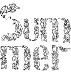 Word Summer vector image vector image
