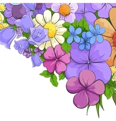 Floral bright background vector