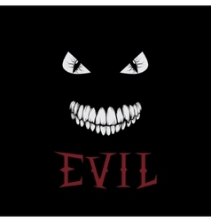 Evil eyes and teeth vector