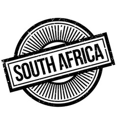 south africa rubber stamp vector image