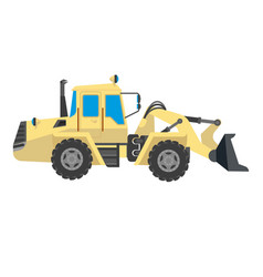 Bulldozer modern model isolated on white vector