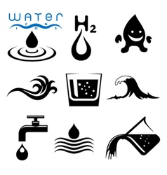 Water icons and signs set vector