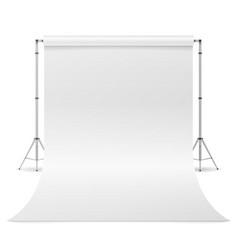 Photography studio clean white canvas vector