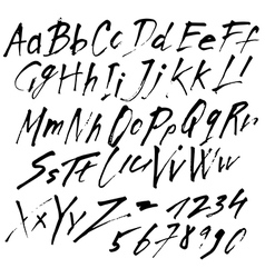 Alphabet brushpen 11 vector