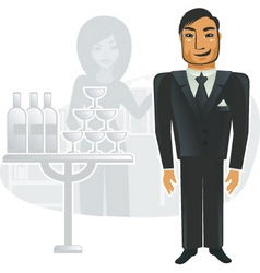 Corporate party vector