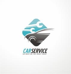 Car abstract logo design concept vector
