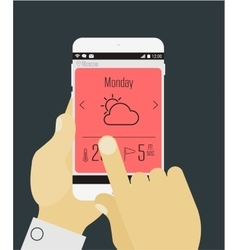 Weather mobile app mockup vector