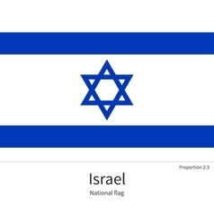 National flag of israel with correct proportions vector