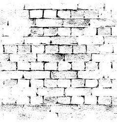 brick wall background grunge vector image