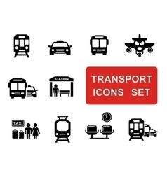 Social transport set vector