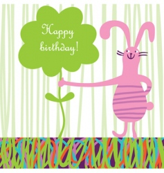 Kids greeting card vector