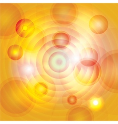 Abstract yellow circles vector
