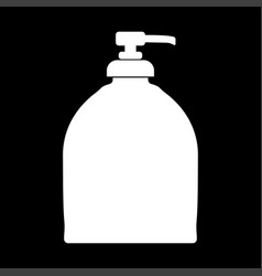 bottle of liquid soap white color icon vector image vector image
