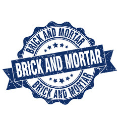 Brick and mortar stamp sign seal vector
