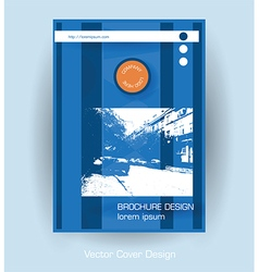 Brochure cover vector