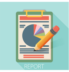 Business report paper modern flat style design vector