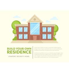 Cartoon house card vector image