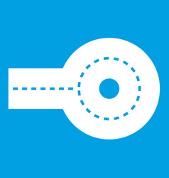 Circular impasse icon white vector