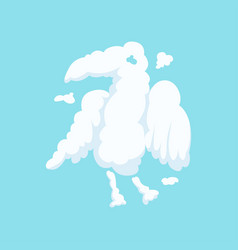 Cloud in bizarre shape of eagle isolated on blue vector