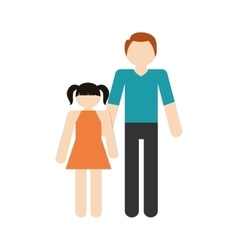 Family father and daughter together vector