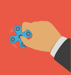 fidget spinner in hand vector image