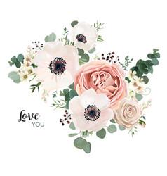 floral card design garden flower lavender pink vector image vector image