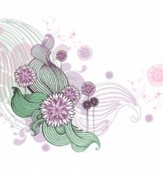 Hand drawn floral illustration vector