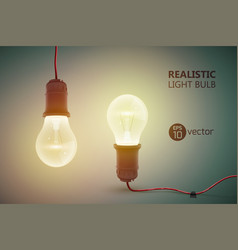 hanging incandescent lamps background vector image