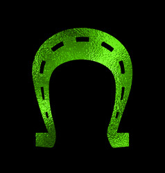 horseshoe foil silhouette vector image