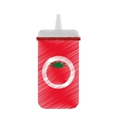 ketchup bottle isolated icon vector image