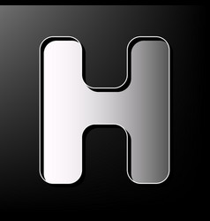 Letter h sign design template element vector