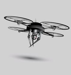 Menacing drone vector