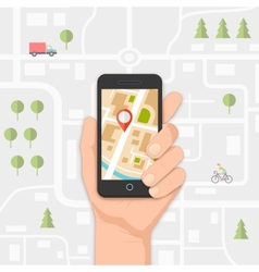 mobile navigation vector image