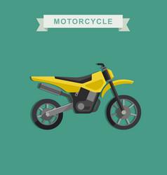 motoctoss bike vector image vector image