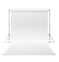 Photography studio clean white canvas vector