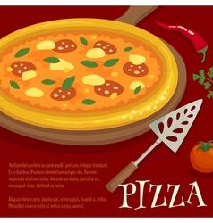 Pizza poster menu layout template cartoon vector image vector image