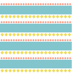 seamless abstract folk retro pattern vector image