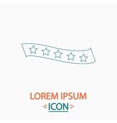Star ribbon computer symbol vector