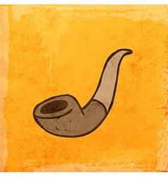 Tabacco pipe cartoon vector