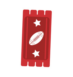 Ticket game american football icon abstract vector