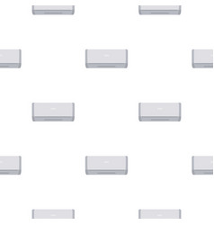 White air conditioner machine pattern seamless vector