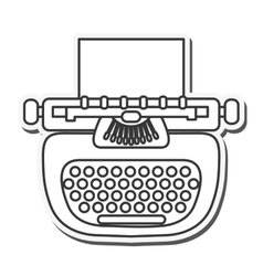 Writer machine vintage design vector