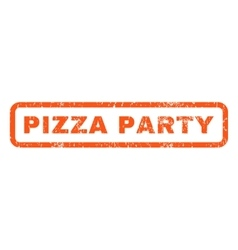 Pizza party rubber stamp vector