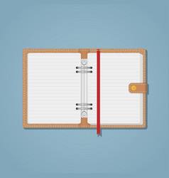 notebook with snap vector image