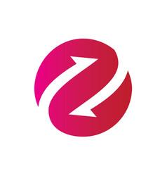 Circle arrow connect business logo vector