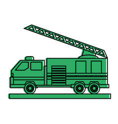 Firefighter truck icon image vector