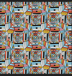 Abstract seamless pattern geometric ethnic vector