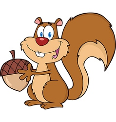 Happy squirrel cartoon vector