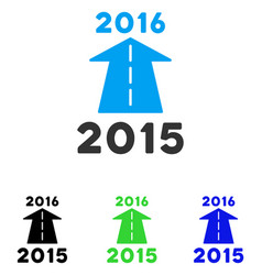 2016 future road flat icon vector image vector image